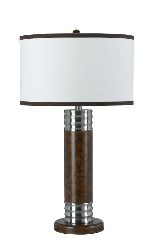 "Cal Lighting BO-964TB 150 Watt 30"" Transitional Resin/Metal Table Lamp"