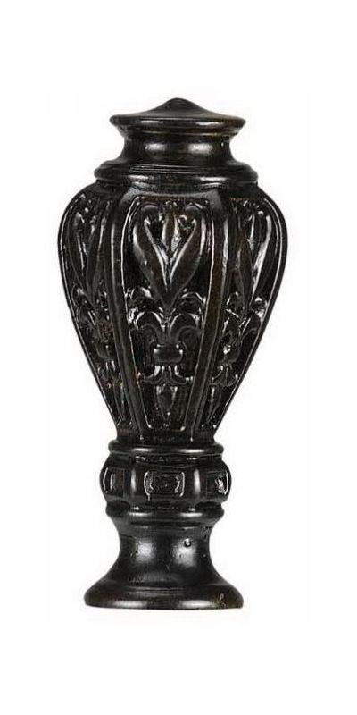 "Cal Lighting FA-5011 2.875"" Traditional / Classic Resin Fleur-De-Lis"
