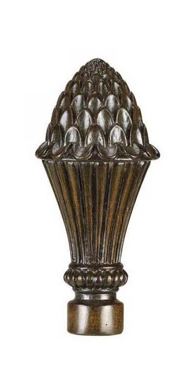 "Cal Lighting FA-5014 3.875"" Traditional / Classic Resin Lotus Finial"