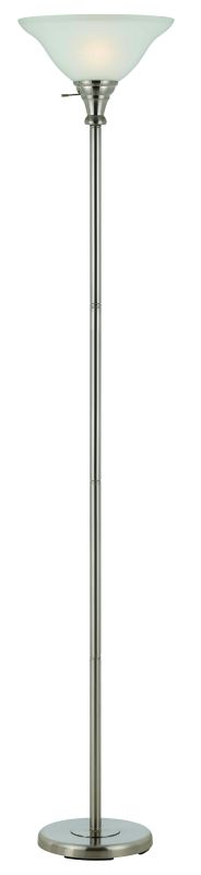 Cal Lighting BO-213 1 Light Pedestal Base Torchier Floor Lamp Brushed