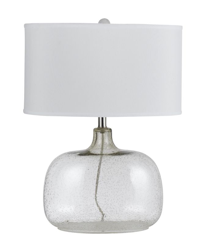 Cal Lighting BO-2262TB Christi 1 Light Clear Glass Table Lamp with