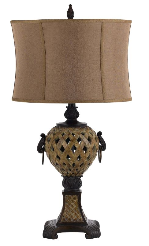 Cal Lighting BO-2284TB Emporia 1 Light Table Lamp with 3-Way Switch