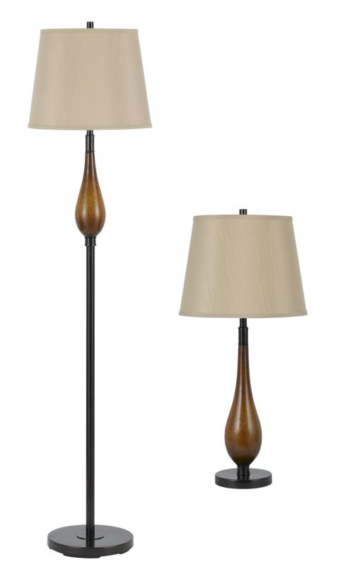 Cal Lighting BO-2302/3 Lamp Set with Two Table Lamps and One Floor