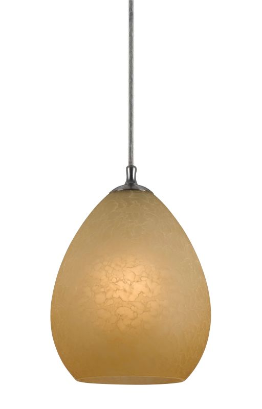 Cal Lighting PN-1074/6-BS 1 Light Pendant with Eggshell Finish