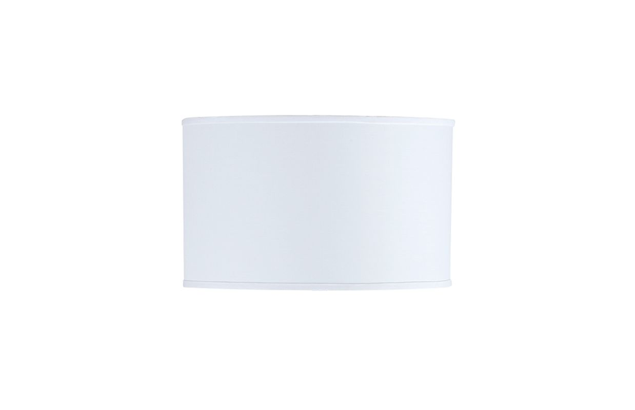 "Cal Lighting SH-1228 17""W x 10.5""H Drum White Hardback Fabric Shade"