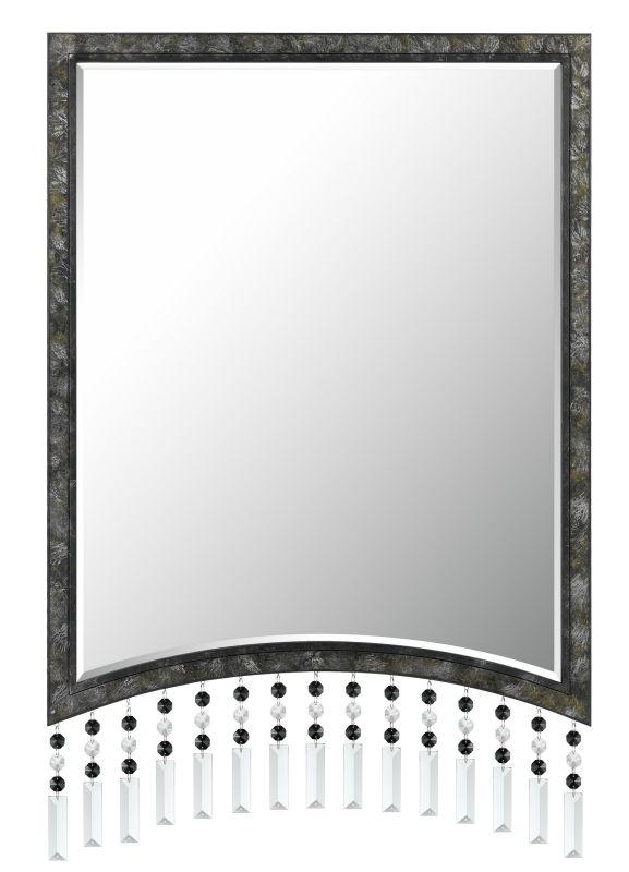 Cal Lighting WA-2128MIR Crystal Argenta Rectangular Metal Mirror