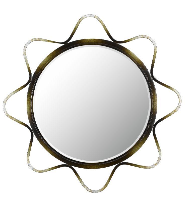 Cal Lighting WA-2141MIR Lorca Metal Beveled Mirror Metallic/Dark