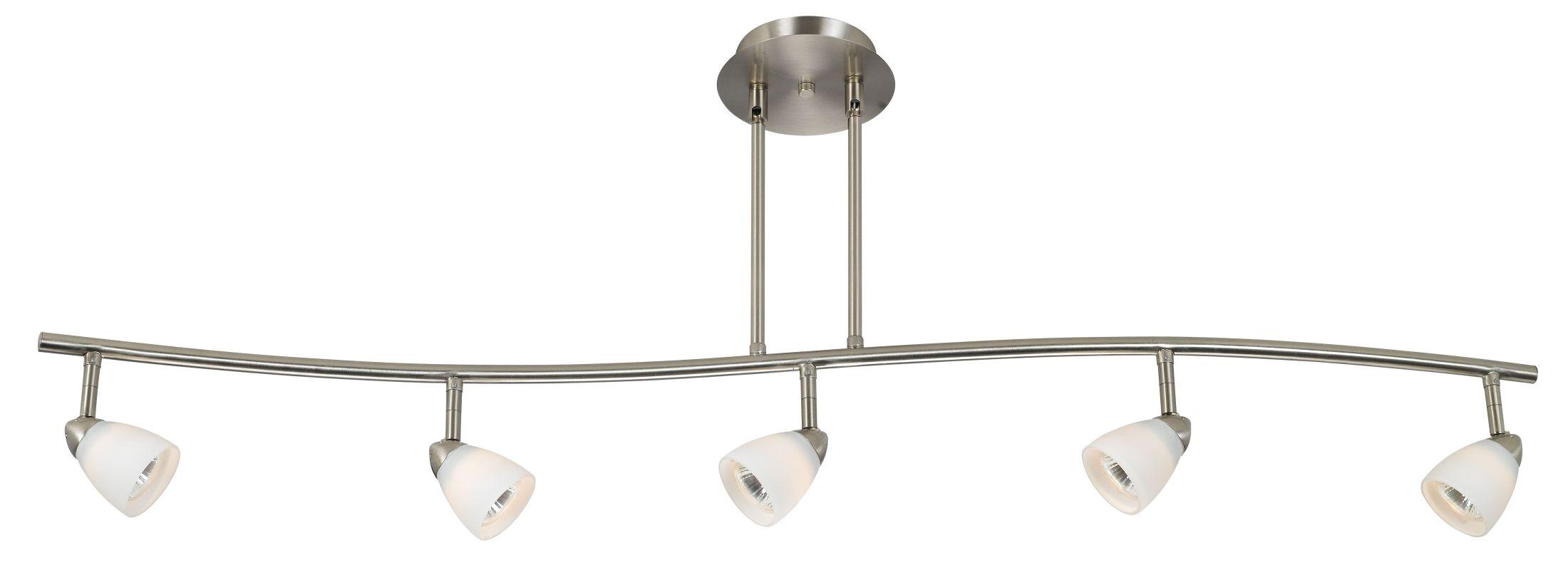 Cal lighting sl 954 5 bs wh brushed steel 5 light canopy for Orbit michael metal floor lamp brushed steel