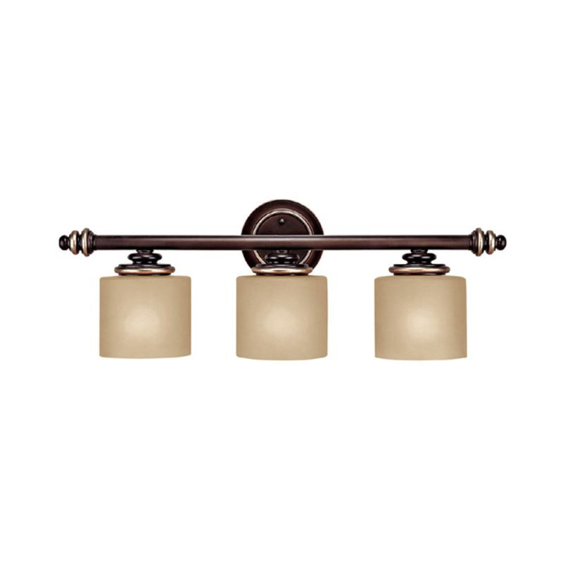 champagne bronze park place 3 light bathroom vanity fixture. Black Bedroom Furniture Sets. Home Design Ideas
