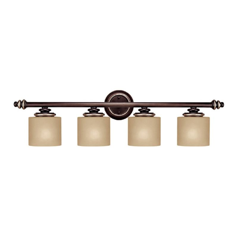 Capital Lighting 1134CZ-296 Champagne Bronze Park Place 4 Light Bathroom Vanity Fixture ...