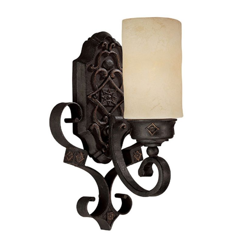 Capital Lighting 1906-125 River Crest 1 Light Wall Sconce Rustic Iron Sale $136.00 ITEM: bci1172641 ID#:1906RI-125 UPC: 841224044728 :