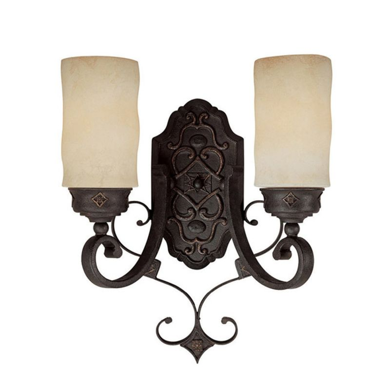 Capital Lighting 1907-125 River Crest 2 Light Double Sconce Rustic