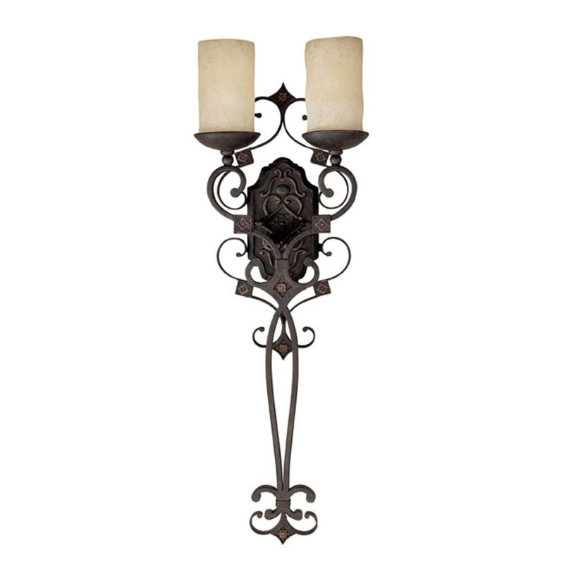 Capital Lighting 1909-125 River Crest 2 Light Candle-Style Wall Sconce