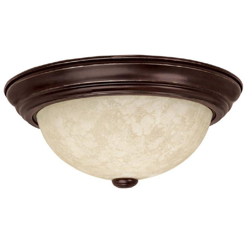 bronze 2 light flush mount ceiling fixture