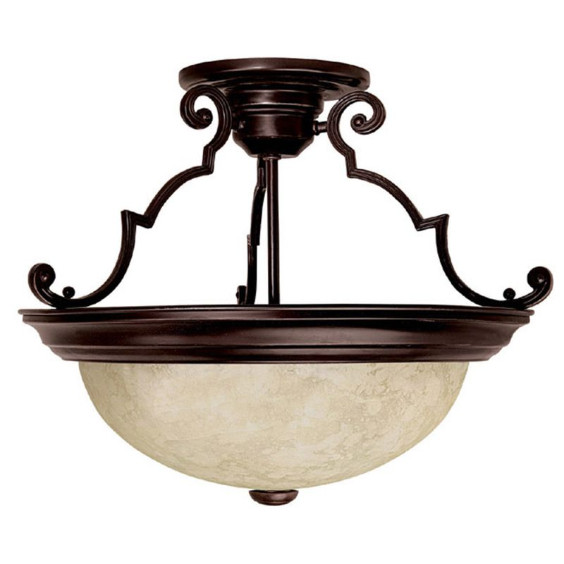 Capital lighting 2737mz mediterranean bronze 3 light semi for Mediterranean lighting fixtures