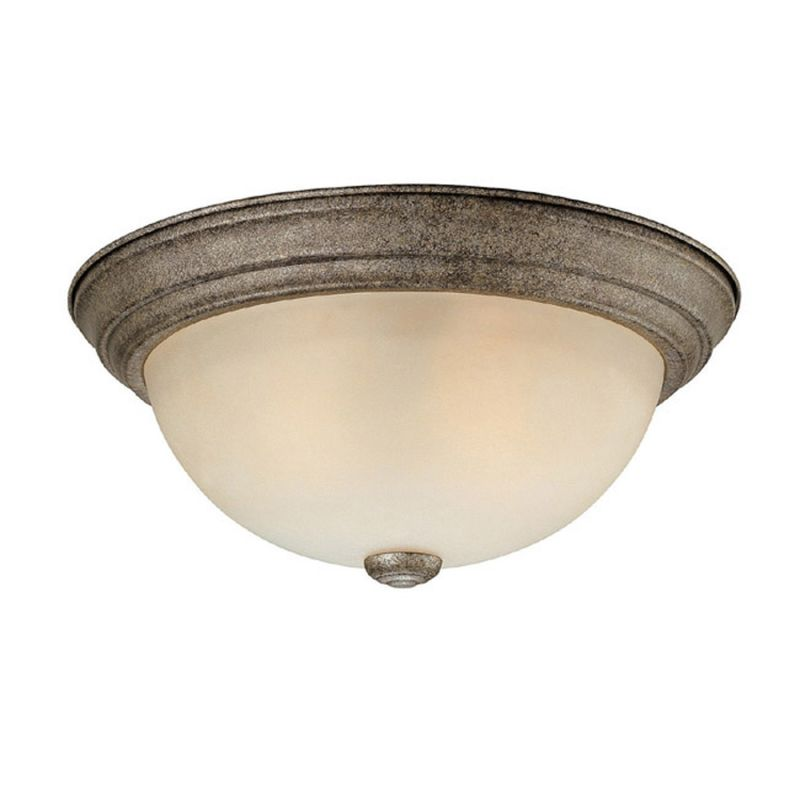 Capital Lighting 2741 2 Light Flush Mount Ceiling Fixture Creek Stone
