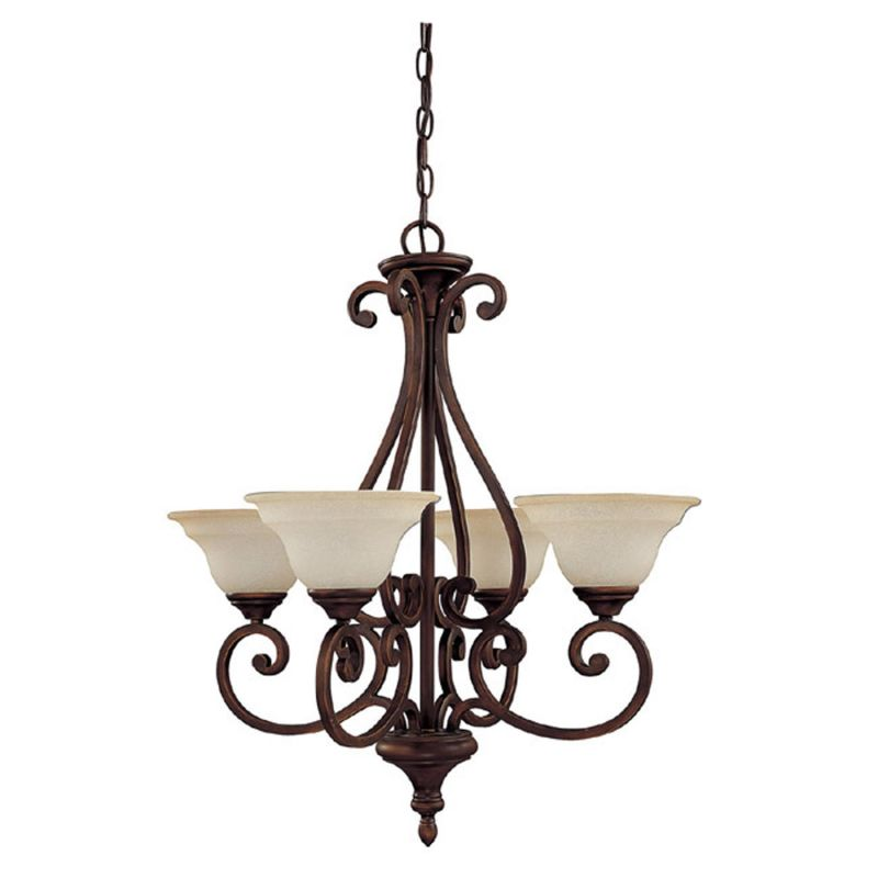 Capital Lighting 3074-292 Chandler 4 Light 1 Tier Chandelier Burnished