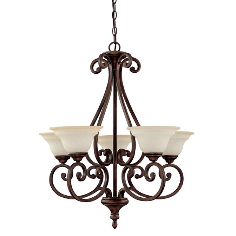 Capital Lighting 3075-292 Chandler 5 Light 1 Tier Chandelier Burnished
