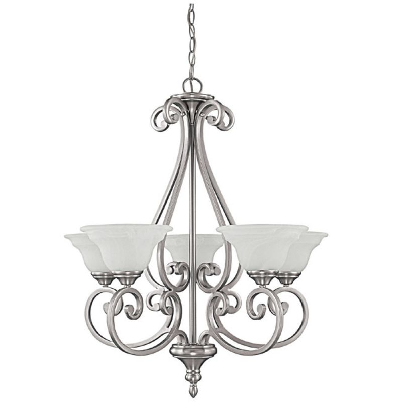Capital Lighting 3075-222 Chandler 5 Light 1 Tier Chandelier Matte
