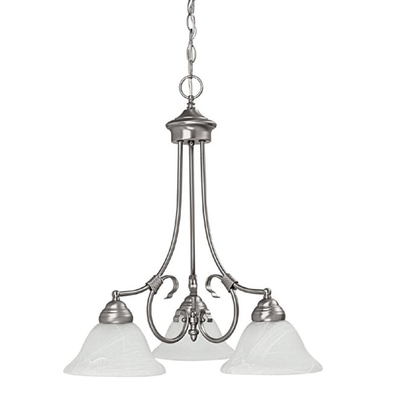 Capital Lighting 3224 Hometown 3 Light 1 Tier Chandelier Matte Nickel
