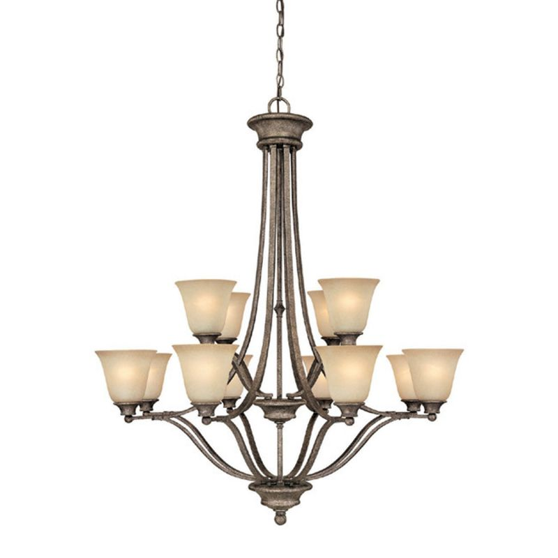 Capital Lighting 3412-287 Belmont 12 Light 2 Tier Chandelier Creek