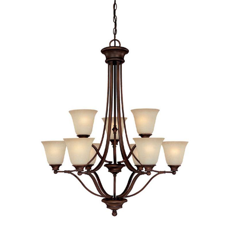 Capital Lighting 3419-287 Belmont 9 Light 2 Tier Chandelier Burnished