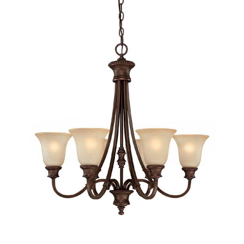Capital Lighting 3566-252 Hill House 6 Light 1 Tier Chandelier