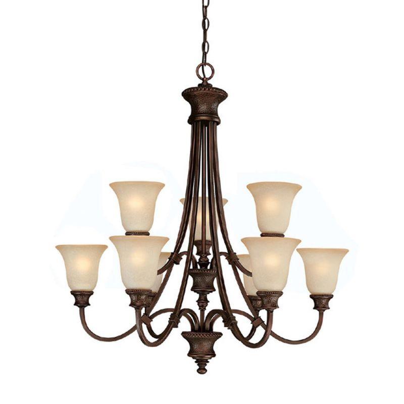 Capital Lighting 3569-252 Hill House 9 Light 2 Tier Chandelier