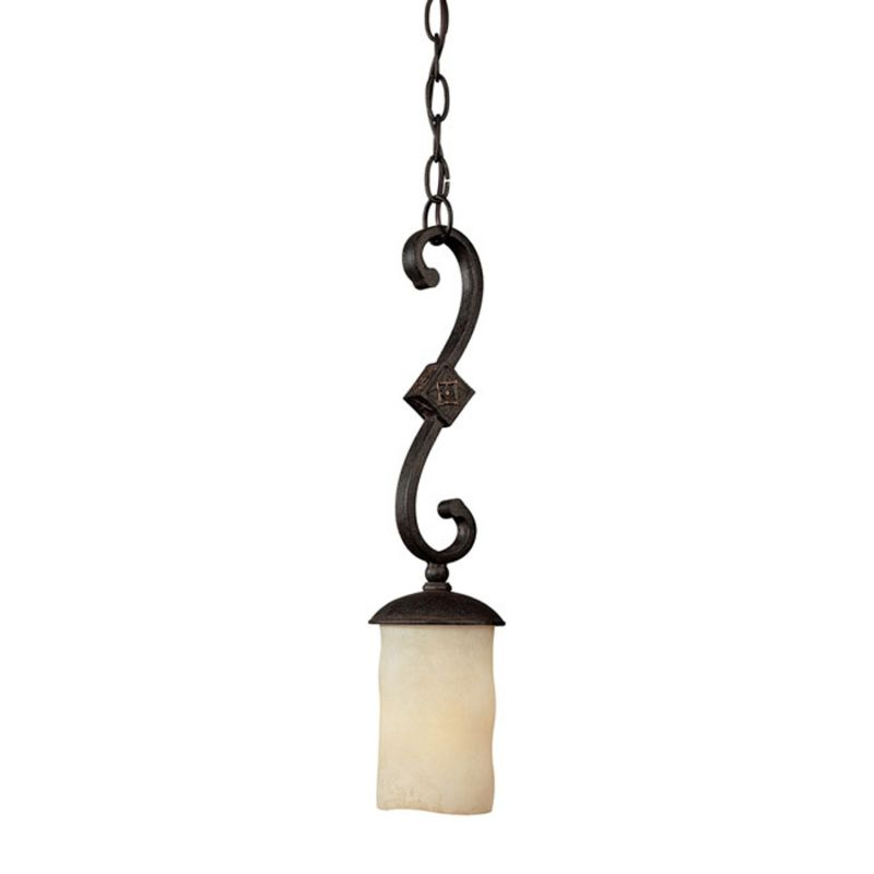 Capital Lighting 3601-125 River Crest 1 Light Mini Pendant Rustic Iron