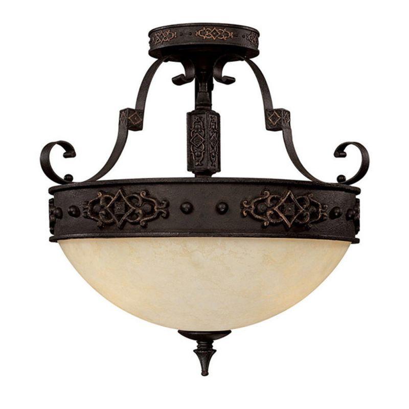 Capital Lighting 3603 River Crest 3 Light Semi-Flush Ceiling Fixture