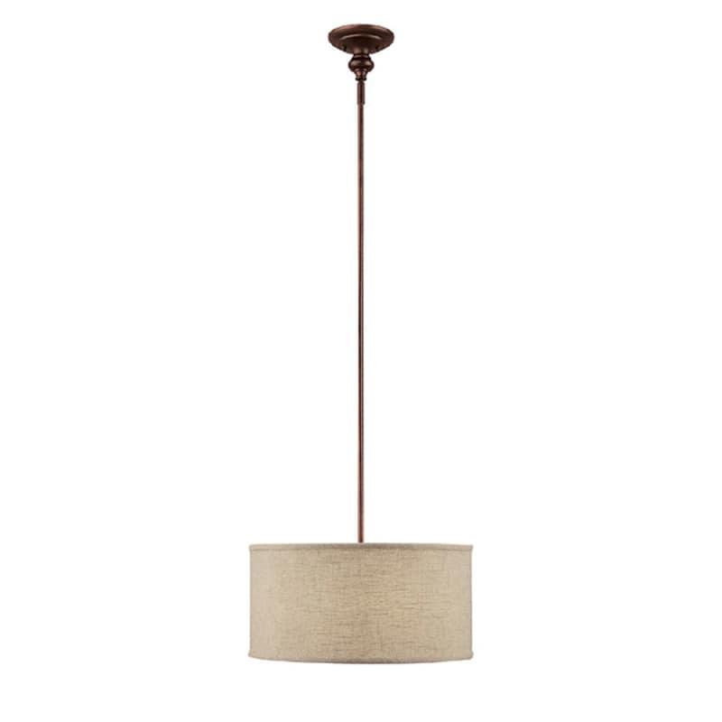 Capital Lighting 3910-456 Midtown 3 Light Full Sized Drum Pendant