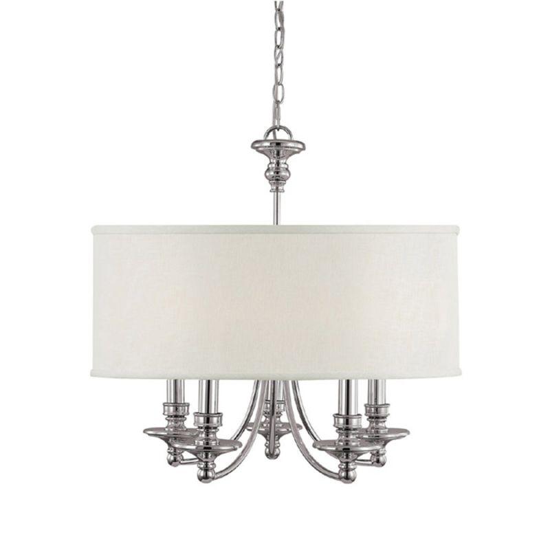 "Capital Lighting 3915-455 Midtown 5 Light 25"" Wide Chandelier Polished"
