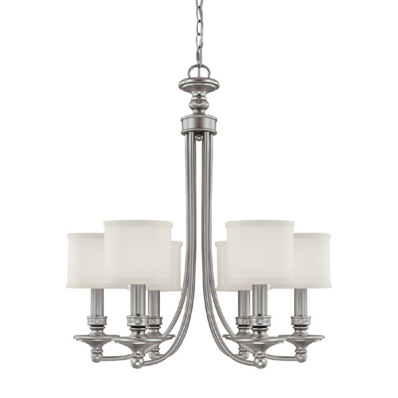 """Capital Lighting 3916-451 Midtown 6 Light 27"""" Wide Chandelier Matte"""