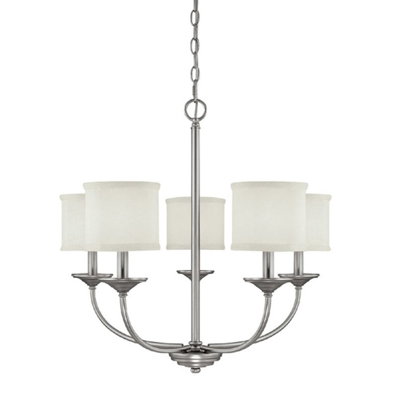 Capital Lighting 3925-469 Loft 5 Light 1 Tier Chandelier Matte Nickel