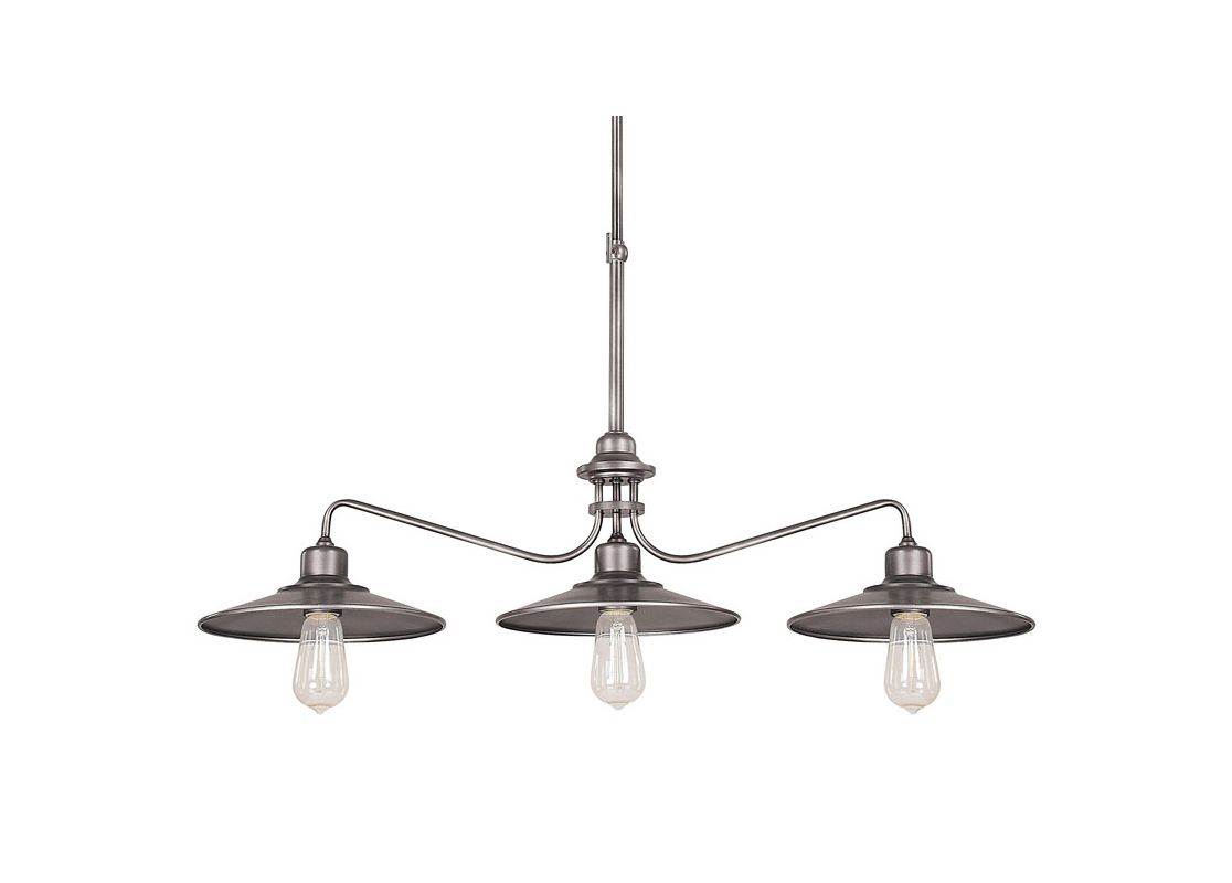 Capital Lighting 4198 Urban 3 Light 1 Tier Linear Chandelier Graphite Sale $124.00 ITEM: bci2235015 ID#:4198GR UPC: 841224090497 :