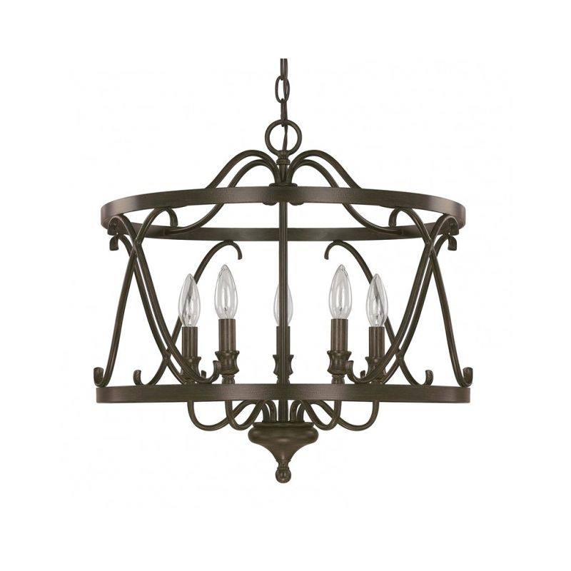 Capital Lighting 4997 Abbey 5 Light 1 Tier Candle Style Chandelier