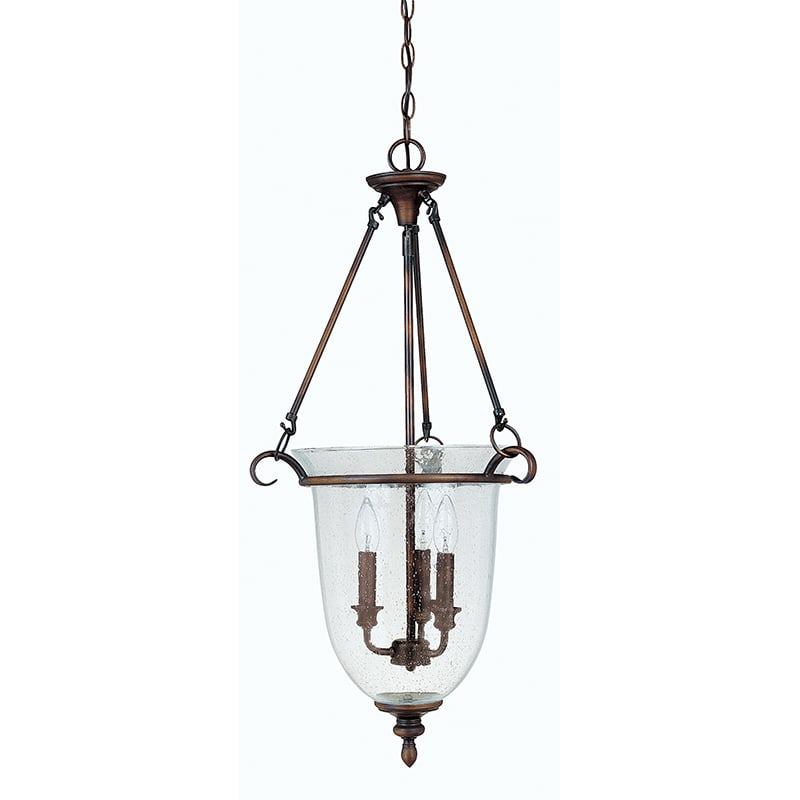 Capital Lighting 9310 3 Light Full Sized Urn Pendant Burnished Bronze