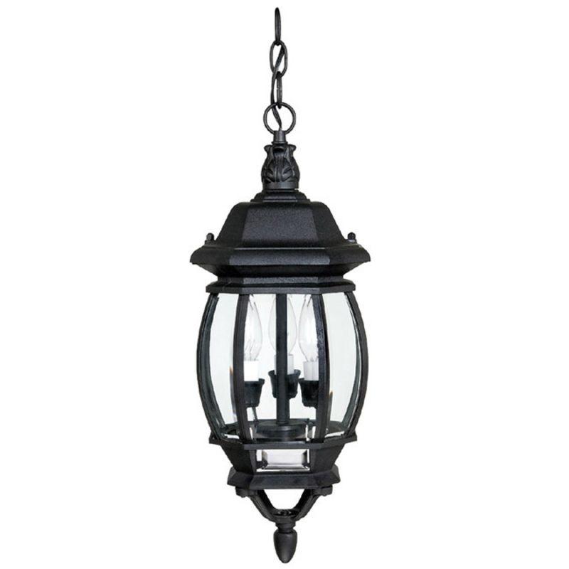 capital lighting 9864bk black french country 3 light