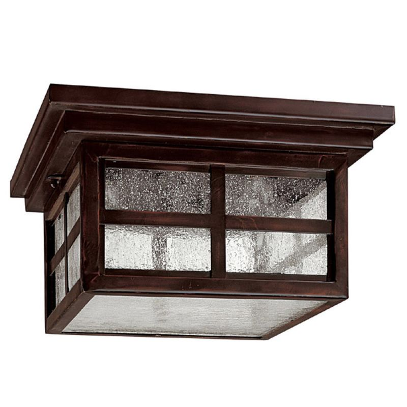 Capital Lighting 9917MZ Mediterranean Bronze Preston 3 Light Outdoor Flush Mo
