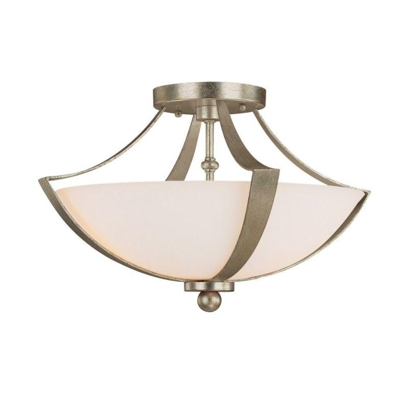Capital Lighting 4334 Soho 2 Light Semi-Flush Ceiling Fixture Winter