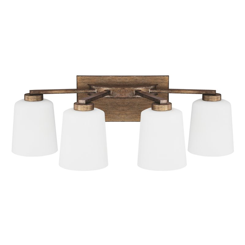 Capital Lighting 112041-323 Reid 4 Light Bathroom Vanity Light Rustic