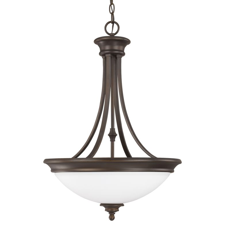 Capital Lighting 3414-SW Belmont 3 Light Full Sized Pendant Burnished