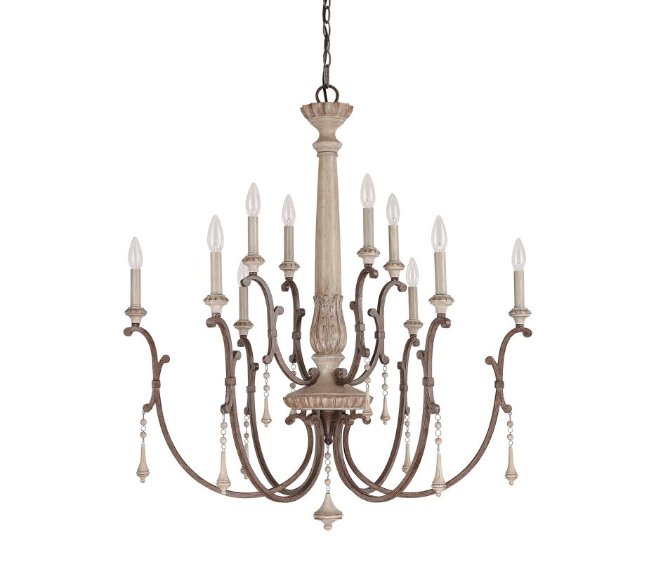 Capital Lighting 4090 Chateau 10 Light 2 Tier Candle Style Chandelier