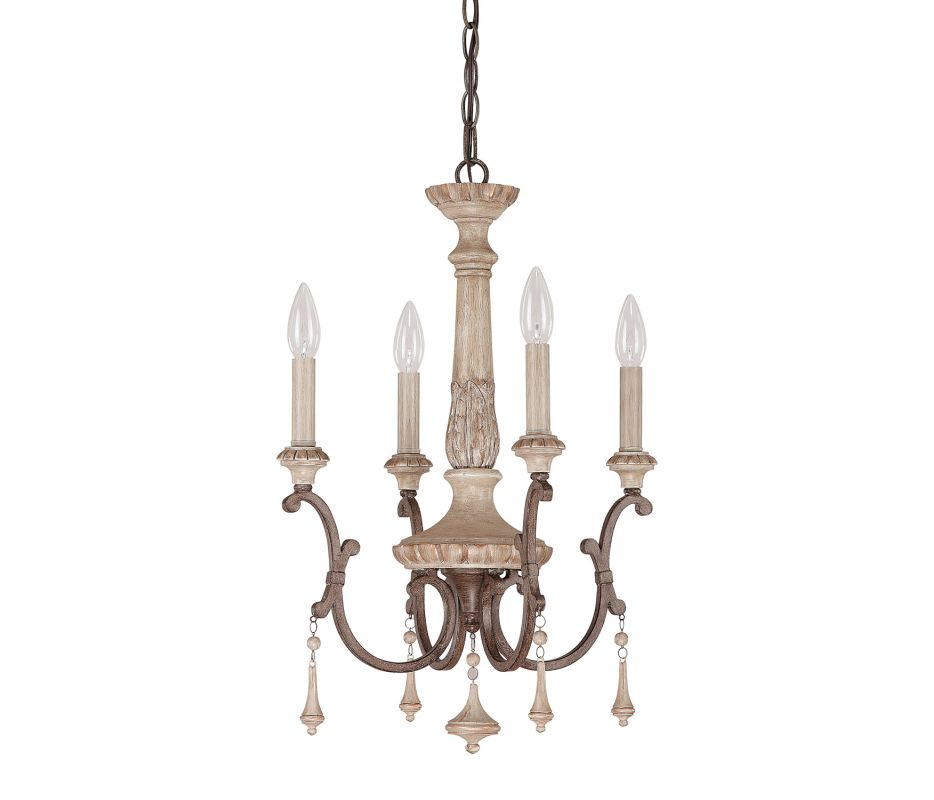 Capital Lighting 4094 Chateau 4 Light 1 Tier Mini Chandelier French