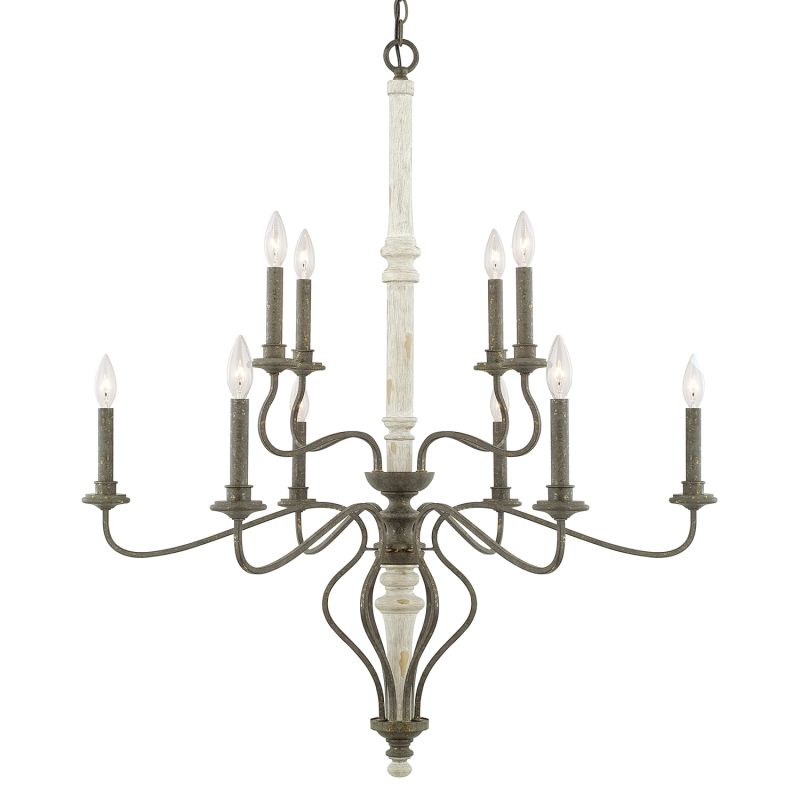 Capital Lighting 410301 Nora 10 Light 2 Tier Chandelier French Country
