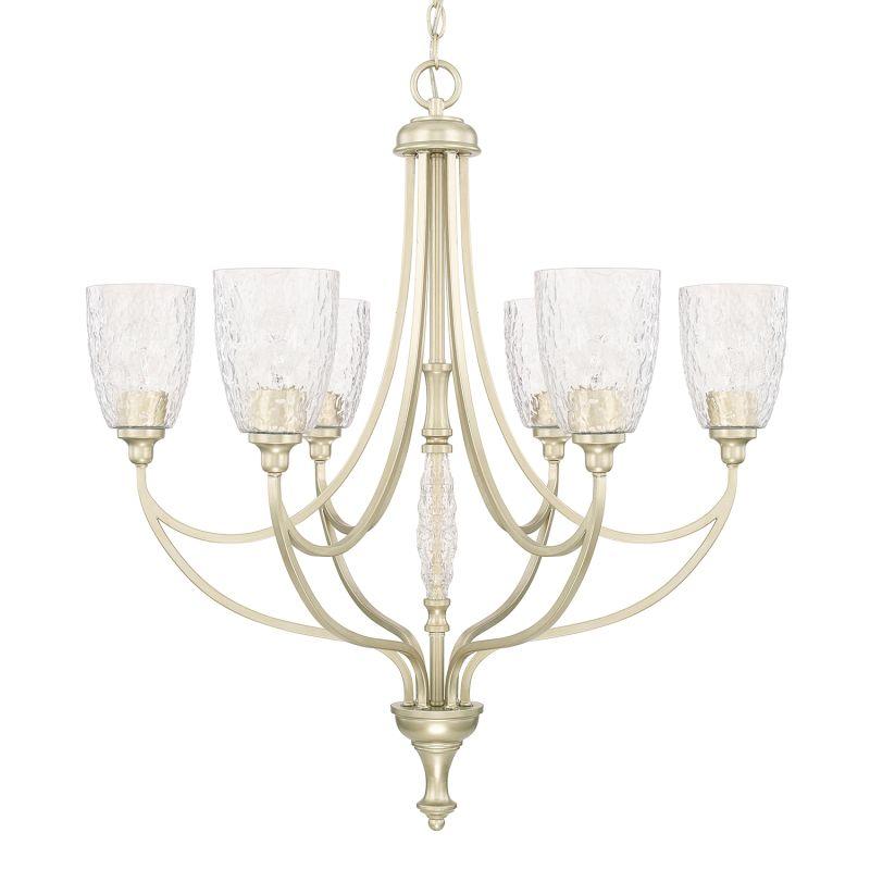 Capital Lighting 410861-302 Seaton 6 Light 1 Tier Chandelier Soft Gold