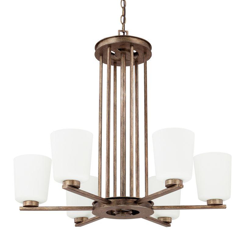 Capital Lighting 412061-323 Reid 6 Light 1 Tier Chandelier Rustic