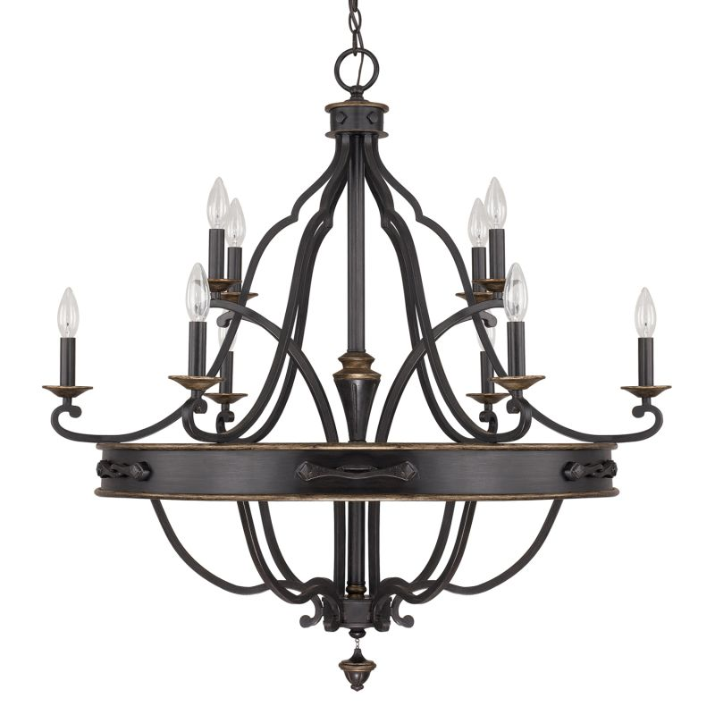 Capital Lighting 4250-000 The Wyatt Collection 10 Light 2 Tier Candle