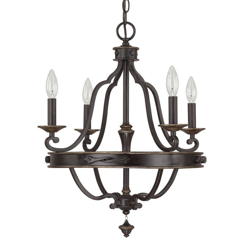 Capital Lighting 4254-000 The Wyatt Collection 4 Light 1 Tier Candle