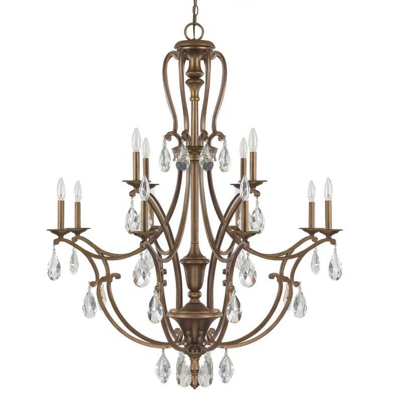 Capital Lighting 4292-000 The Claybourne Collection 12 Light 2 Tier